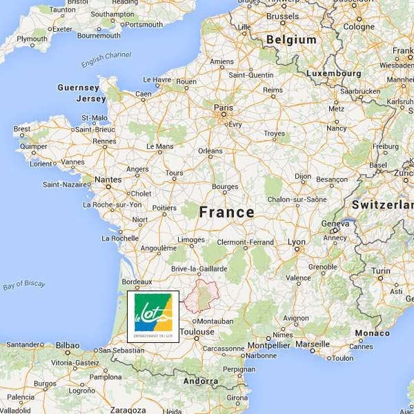 Map Of Areas Of France.The Lot