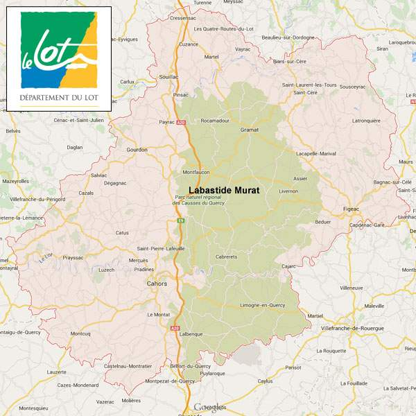 Map Of Lot France.The Lot